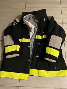 Vintage Lion Apparel Firefighters Jacket Turnout Fireman  Gear New With Manual
