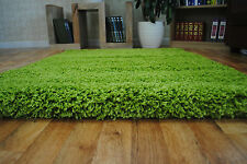 """Soft Thick Plain Small Extra Large Shaggy 5 Cm Pile Size Modern Non Shed Rugs Green 120x170cm (4'x5'6"""")"""
