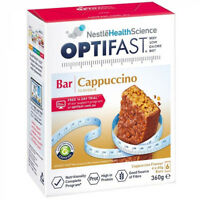* OPTIFAST VLCD 6 X 60G BARS 360G CAPPUCCINO LOW CALORIE DIET WEIGHT LOSS