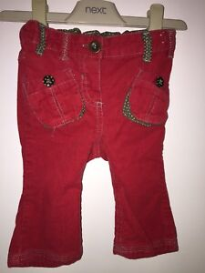 Girls Age 3-6 Months - Next Red Cord Trousers