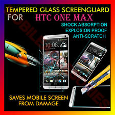 ACM-TEMPERED GLASS SCREENGUARD for HTC ONE MAX MOBILE ANTI-SCRATCH PROTECTOR