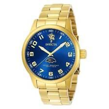 Invicta Men's Bracelet Watch - Sea Base Blue Dial Yellow Gold Steel | 23824