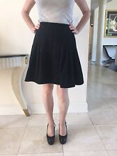 Marc By Marc Jacobs Black Wool Blend With Gold Thread Puffy Bubble Skirt Size S