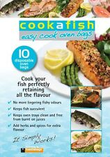 toastabags cookafish Fish Cooking Oven Disposable Bags - Pack of 10 - FREE P&P