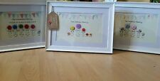 Handcrafted Family Button Picture Birthday Present Gift Personalised.