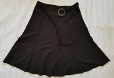 Ladies size 12 Black Floral Skirt with Belt - Target