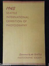 1943 Brochure Program SEATTLE INTERNATIONAL EXHIBIT PHOTOGRAPHY SOCIETY nude art