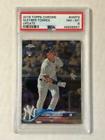 GLEYBER TORRES 2018 Topps Chrome Update RC #HMT9! PSA NM-MT 8! YANKEES!