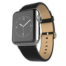 Modern Buckle Genuine Leather Magnetic Watch Wrist Band for Apple Watch 42mm USA