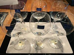 Villeroy & Boch Burgundy Maxima Wine Glasses x 6 Boxed Brand New