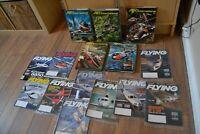 Air International 5 Hardback Volumes and 10copies of Flying magazine - job lot