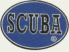 SCUBA DIVE PATCH - BLUE OVAL - SCUBA PATCH -EASY STICK ON BACKING --  GEN1912-2
