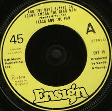 """FLASH AND THE PAN and the band played on/the man who knew the answer 7"""" WS EX/"""
