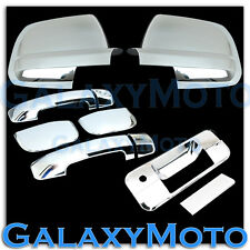 Mirror+Chrome 4 Door Handle+Tailgate Cover for 07-13 TOYOTA TUNDRA DOUBLE CAB