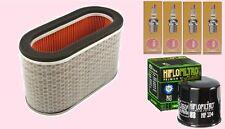 Service kit:- Plugs  Air & Oil filter for Honda ST ST1300 Pan European 2002-15