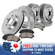 Front Brake Rotors + Ceramic Pads Rear Brake Drums + Shoes For Ford F150