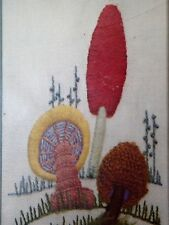 Mushroom Delight Stitchery Kit Paragon Needle Craft Sandra Kmet Crewel