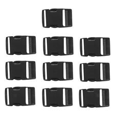 "10 Pcs 1"" 25mm Width Plastic Safety Quick Release Side Release Buckles Black"
