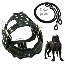 Black Dog Weight Pulling Harness Heavy Duty for Large Dogs Training Vest Pitbull