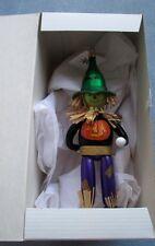 Christopher Radko Halloween Blown Glass Ornament Italy Straw Hair Pumpkin Shirt