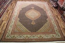 Signed Persian Tabriz Silk & Wool carpet fine weave superb colour 11.4 X 8 FT