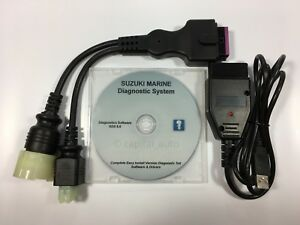 For Suzuki Outboard Boat Marine Diagnostic USB Cable Kit SDS 8.50