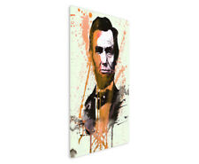 Abraham Lincoln 90x60cm  Aquarell Art Leinwandbild