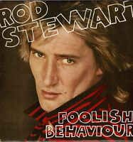 "ROD STEWART Foolish Behaviour + Gigantic Poster 12"" Vinyl LP Album Riva DA"