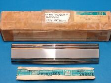 NOS GM Chrome Gas Tank Filler Door 1974 Olds 98 Regency