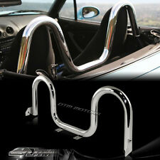 JDM Polish Stainless Steel Tube Support Roll Bar For 1990-2005 Mazda Miata MX5