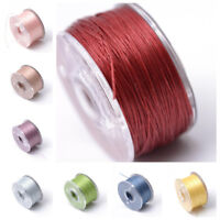 Special Coated Polyester Threads For Seed Beads Jewelry 0.1mm Multi-Color
