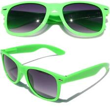 Neon Green horned rim sunglasses gradient lens 80's vintage retro classic fun
