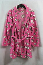 Women's Charlotte Pink With Peace Signs Robe Size Medium