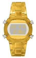 Adidas ADH6505 Candy Yellow Plastic Bracelet with 43mm Digital Watch New In Box
