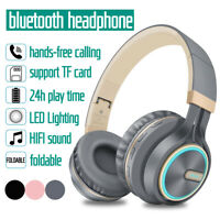 Wireless bluetooth Headphones Stereo Headset Foldable Hands-free Support TF Card