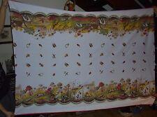 Ancienne Nappe 100% cotton au decor Scène de Chasse Idéal Cabane de Chasseur