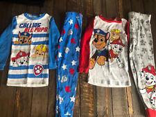 Paw Patrol Boys Size 6 Pajama Lot Pj Sleepwear Set 4 Piece