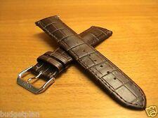 "Genuine ORIS""Artelier Complication""22mm Leather band/strap.bracelt Brown #7546"