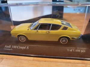 Audi 100 Coupe S 1969 Minichamps model car 1:43