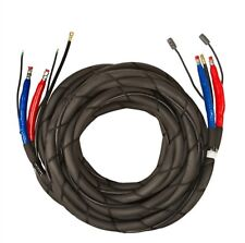 """PMC Low Pressure 2000 psi Braided Heated Hose, 3/8"""" x 50"""" w/TC and Scuff Jacket"""