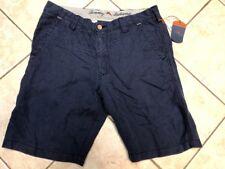 Tommy Bahama Linen the Dream Linen Blend Shorts Mens 32 Maritime Navy NWT $88