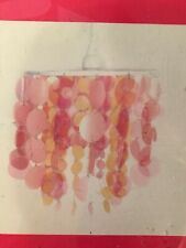 Claire's pink/orange hanging lamp shade and cord.  NEW in the package.