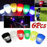 6Pcs Silicone Bike Bicycle Cycling Head Front Rear Wheel LED Flash Light Lamp S