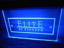 Elite By Pioneer Acrylic Neon Sign Light Display Chained Electric Cord