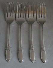 New Listing4 Oneida Community Lady Hamilton Salad Forks Silverplate Silverware