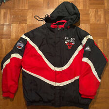 Apex One Vintage Chicago Bulls Long Sleeve Jacket With Hood Great Condition!