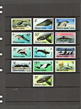 FALKLAND ISLANDS  2012, WHALES & DOLPHINS DEFINITIVE +2016 31p, 13v., MNH