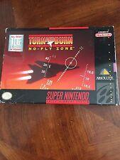 Turn and Burn: No-Fly Zone (Super Nintendo Entertainment System, 1994) Cib NG4
