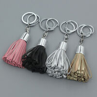 Womens PU Leather Tassel Pendant Mobile Purse Bag Key Chain Handbag Accessories