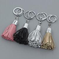 Womens PU Leather Tassel Pendant Mobile Purse Bag Key Chain Handbag Accessories